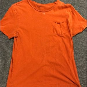 Lucky brand pocket t-shirt orange size large.